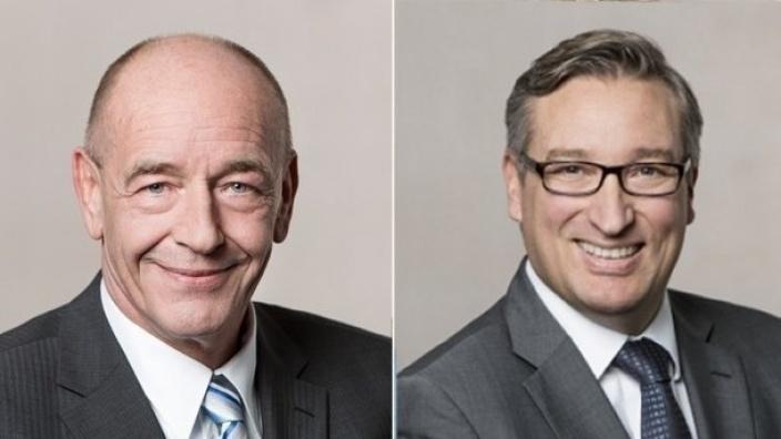 """Rolf Tups (l.) und Andreas Hartnigk: """"OB Geisel ist als Krisenmanager ungeeignet."""""""